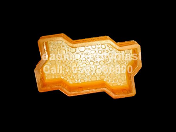 Interlocking Pvc Pavers Rubber Moulds RP-1-A-ZIG-ZAG-BUBBLE-60,80,100mm