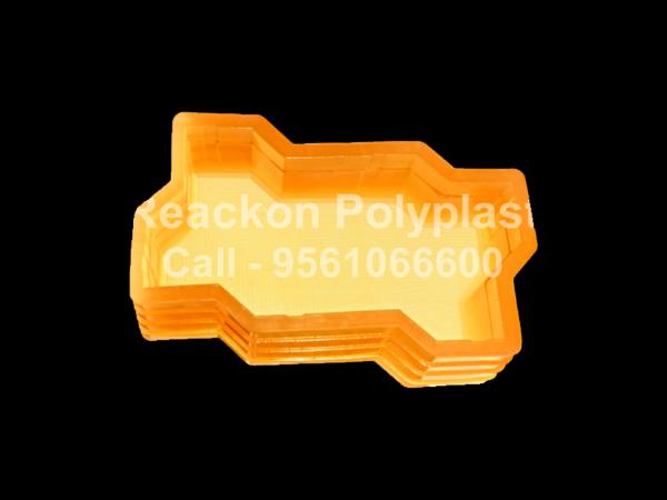 Interlocking Pvc Pavers Rubber Moulds RP-1-B-ZIG-ZAG-60,80,100mm