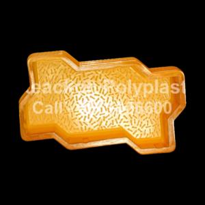 Interlocking Pvc Pavers Rubber Moulds RP-1-F-ZIG-ZAG-60, 80, 100 mm-BIG-SIZE