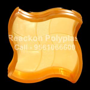 Interlocking Pvc Pavers Rubber Moulds RP-10-A-WAVE-60, 80, 100 mm
