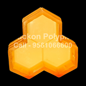 Interlocking Pvc Pavers Rubber Moulds RP-13-TRIHEX-60, 80, 100 mm