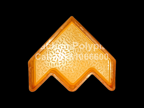 Interlocking Pvc Pavers Rubber Moulds RP-14-ROCKET-60, 80, 100 mm