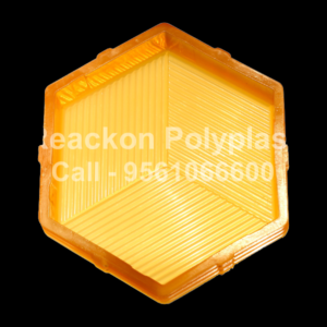 Interlocking Pvc Pavers Rubber Moulds RP-17-B-HEXA-60, 80, 100 mm
