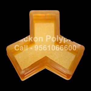 Interlocking Pvc Pavers Rubber Moulds RP-18-Y-PAVER-60, 80, 100 mm